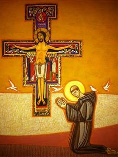 Francis Of Assisi, St Francis, San Francisco, Tao, San Damian, Divine Mercy Image, Clare Of Assisi, Surreal Photos, Painting Studio