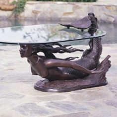 mermaid table    I love this!!!