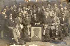 Grodno, Poland, Group portrait of teenagers in uniform.  Belongs to collection: Yad Vashem Photo Archive
