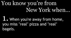 You know you're from New York when