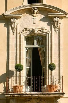 A French door, leading to a balcony in Provence. So beautiful!