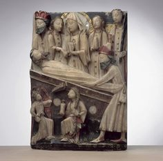 Anonim inglès, La mesa al tombèl (15e sègle, Musèu dels Augustins, Tolosa)