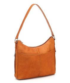 Look at this Le Donne Tan Bella Leather Hobo on #zulily today!