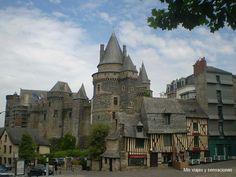 Pueblo de Vitré, Bretaña Francesa, Francia