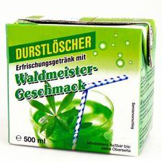 Durstlöscher Waldmeister 500ml Erfrischungsgetränk aus Fruchtsaftkonzentrat mit Waldmeister-Geschmack. Im Trinkpack mit Strohhalm.