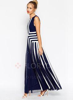 polyester Geometrisch Mouwloos Maxi Elegant Jurken (1010677) @ floryday.com