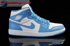 wholesale dealer ea530 28e36 Nike Air Jordan 1 I Retro Mens Shoes White   University Blue   White All  kinds of Cheap Nike Shoes are provided in Nike store with superior quality  and ...