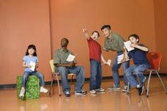 Games for a High School Drama Class An improv drama class can be educational and fun.An improv drama class can be educational and fun. Theatre Games, Teaching Theatre, Drama Theatre, Student Teaching, Teaching Ideas, Children's Theatre, Musical Theatre, Drama Activities, Drama Games