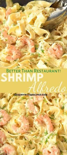 This Best Olive Garden Shrimp Alfredo CREAMY,DELICIOUS,EASY and restaurant-style,copycat Olive Garden recipe of Fettuccine Alfredo with Shrimp(it's Shrimp Fettuccine). Its Shrimp Alfredo with creamy,cheesy homemade Alfredo Sauce- with lots of Parmesan Salsa Alfredo, Shrimp Fettuccine Alfredo, Alfredo Sauce, Shrimp Pasta, Baked Shrimp Alfredo, Fettuccine Recipes, Pasta Spaghetti, Seafood Pasta, Cajun Shrimp