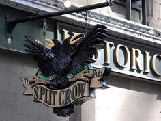 Halifax's Split Crow Pub is named one of the best pubs in Canada Halifax Canada, Old Bar, Best Pubs, Atlantic Canada, Pub Signs, Cape Breton, Hotel Motel, Prince Edward Island, Signs