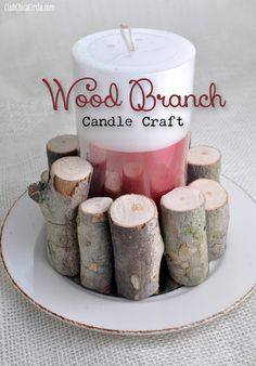 Wood-Branch-Candle-Craft