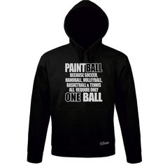 Sweatshirt Hoodie PAINTBALL others only ONE BALL Spruch Sport Siviwonder bis 3XL