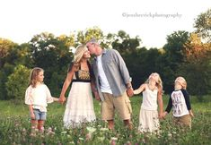 I realize this family has yours waaay out numbered BUT this is the perfect setting for family shots at 6 months!