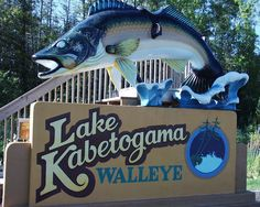 Two Tailed Walleye Statue At Shell Lake Wisconsin