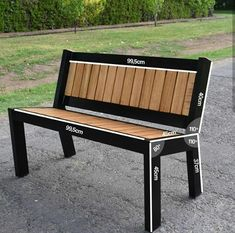Decking scraps sculpted into industrial steel and wood bench – Salvabrani – Diy Furniture Ideas Welded Furniture, Industrial Design Furniture, Iron Furniture, Bench Furniture, Steel Furniture, Rustic Log Furniture, Modern Industrial, Furniture Ideas, Metal And Wood Bench
