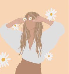 Girl Illustration Art, Graphic Design Illustration, Graphic Art, Cartoon Girl Drawing, Cartoon Art, Ipad Art, Design Graphique, Aesthetic Art, Couple Aesthetic