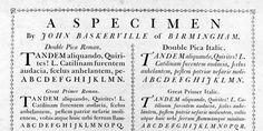 Baskerville specimen & the Benjamin Franklin story