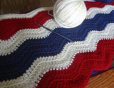 Ravelry: lverb's Patriotic Ripple (in progress)