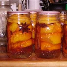 Nana's Southern Pickled Peaches ... an old southern recipe... these are wonderful... this was one of the ways my mother preserved our peaches for a great treat in the winter.... try you won't be dissapointed... Allrecipes.com