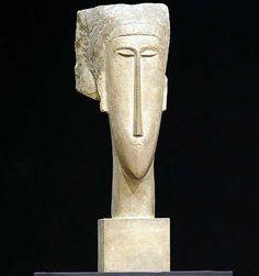 modigliani escultura - Google Search Italian Painters, Italian Artist, Contemporary Sculpture, Contemporary Paintings, Stone Sculpture, Sculpture Art, Art Visage, Sculptures Céramiques, Drawing Prompt