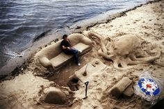 Sand Sculpture Living Room, Southwark, England