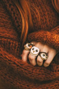 Woodland theme Autumn jewellery accessories , perfect for eco fairies , owl rings , fashion gift ideas Spotted Owl, Owl Ring, Mode Plus, Autumn Cozy, Autumn Fall, Autumn Leaves, Clothes Horse, Owl Clothes, Fancy Clothes