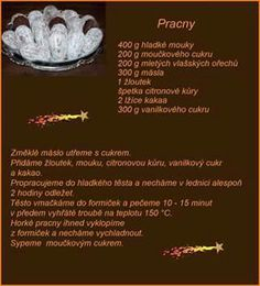 Pracny Slovak Recipes, Czech Recipes, Christmas Baking, Christmas Cookies, Ham, Food And Drink, Beef, Yummy Cakes, Biscuits