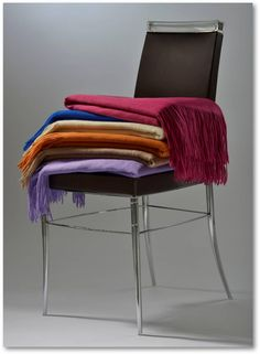 Cashmere Throws perfect for Winter home appeal! Cashmere Throw, Winter House, Mongolia, Rainbow, Chair, Furniture, Design, Home Decor, Rain Bow