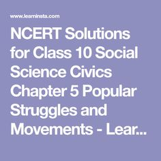 8 Best NCERT Solutions for Class 10 Social Science Civics images in 2019