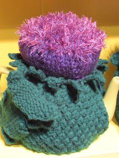 Dark purple scotch thistle tea cosy http://teacosyfolk.blogspot.co.uk/2015/05/two-scotch-thisle-tea-cosies-purple-and.html?view=mosaic
