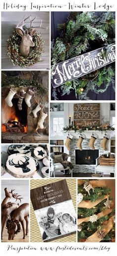 Holiday inspiration winter lodge | Frosted Events Christmas ideas and inspiration #christmas #holiday