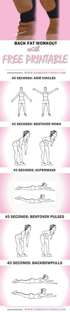 Best back fat workout to reduce back fat bra bulge and underarm fat. Back fat can actually be a thing of your past now!