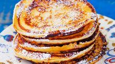 Syrnikit eli rahkaräiskäleet Baking Recipes, Snack Recipes, Snacks, Pancakes, Cocktail Desserts, Healthy Baking, Food Inspiration, Love Food, Sweet Recipes