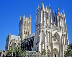 Washington National Cathedral, NW Washington, D.C., U.S.A.  One of the world's largest and loveliest cathedrals.  Some unique features commemorating American events and people (and Darth Vader, believe it or not).
