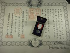 Japan - Order of Rising Sun 8th Class with award document