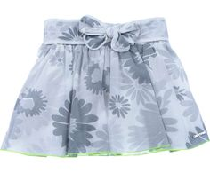 Little Marc Jacobs Junior Girls Grey Floral Print Cotton Skirt