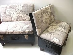 Retrotastic Furniture Made from Amazing Old Suitcases and Trunks - Suitcase chairs, designed by Katie Thompson