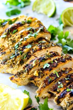 Easy, juicy, Skillet OR Grilled Cilantro Lime Chicken seeping with flavor is a meal in itself or transforms salads, tacos, wraps, in the the best EVER!