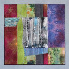 """""""STERNENNACHT / STARRY NIGHT"""", textile Collage von Annette Aue, Monoprint"""