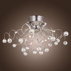 Eleganzo Collection Elegant Luminarias Modern Crystal Ceiling Light