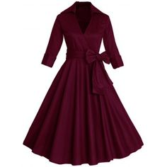 SHARE & Get it FREE   Vintage Surplice Belted High Waist DressFor Fashion Lovers only:80,000+ Items·FREE SHIPPING Join Dresslily: Get YOUR $50 NOW!