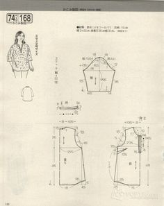Amazing Sewing Patterns Clone Your Clothes Ideas. Enchanting Sewing Patterns Clone Your Clothes Ideas. Sewing Patterns Free, Free Sewing, Clothing Patterns, Blouse Patterns, Japanese Sewing, Japanese Books, Modelista, Make Your Own Clothes, Book And Magazine