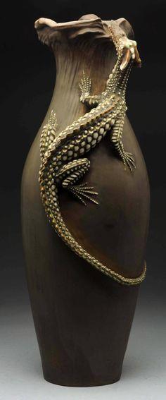 Amphora Dragon Vase Designed by Alfred Stellmacher