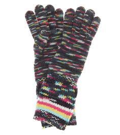 MISSONI Knitted Wool And Cashmere-Blend Gloves. #missoni #gloves