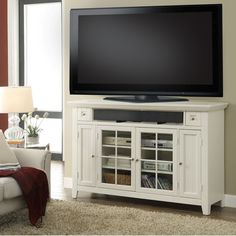 highboy tv console with fresh styling and a clean vintage white finish the parker house tidewater 62 in