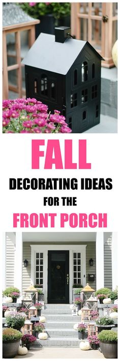 Looking for fall decorating ideas outside on the front porch? Here's my fall porch with seven simple decorating ideas. Fall porch. Fall decorating. Fall porch decorating. Fall outdoor decor.
