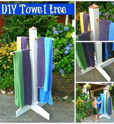 My House and Home - Home - {DIY} Towel tree