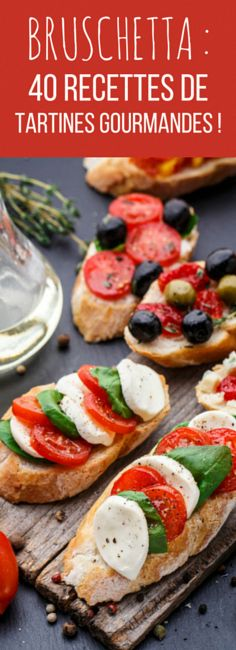 La bruschetta : 40 recettes de tartines gourmandes ! #RecettesCuisinePoulet Gourmet Sandwiches, Veggie Recipes, Cooking Recipes, Healthy Recipes, Bruchetta, Brunch, Quiches, Appetisers, Food Photo