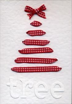 Punch the holes for them annd have them lace with a wire? DIY Ribbon Christmas Tree Card ♥