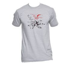 Lonely Mountain and Smaug American Apparel Unisex by NerdGirlTees